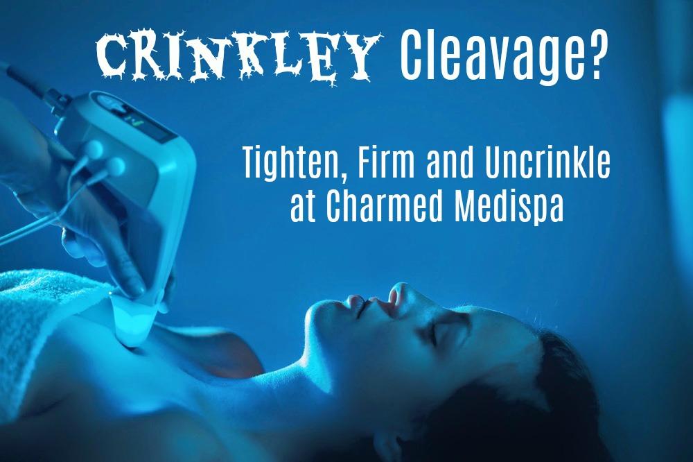 ad crinkley cleavage