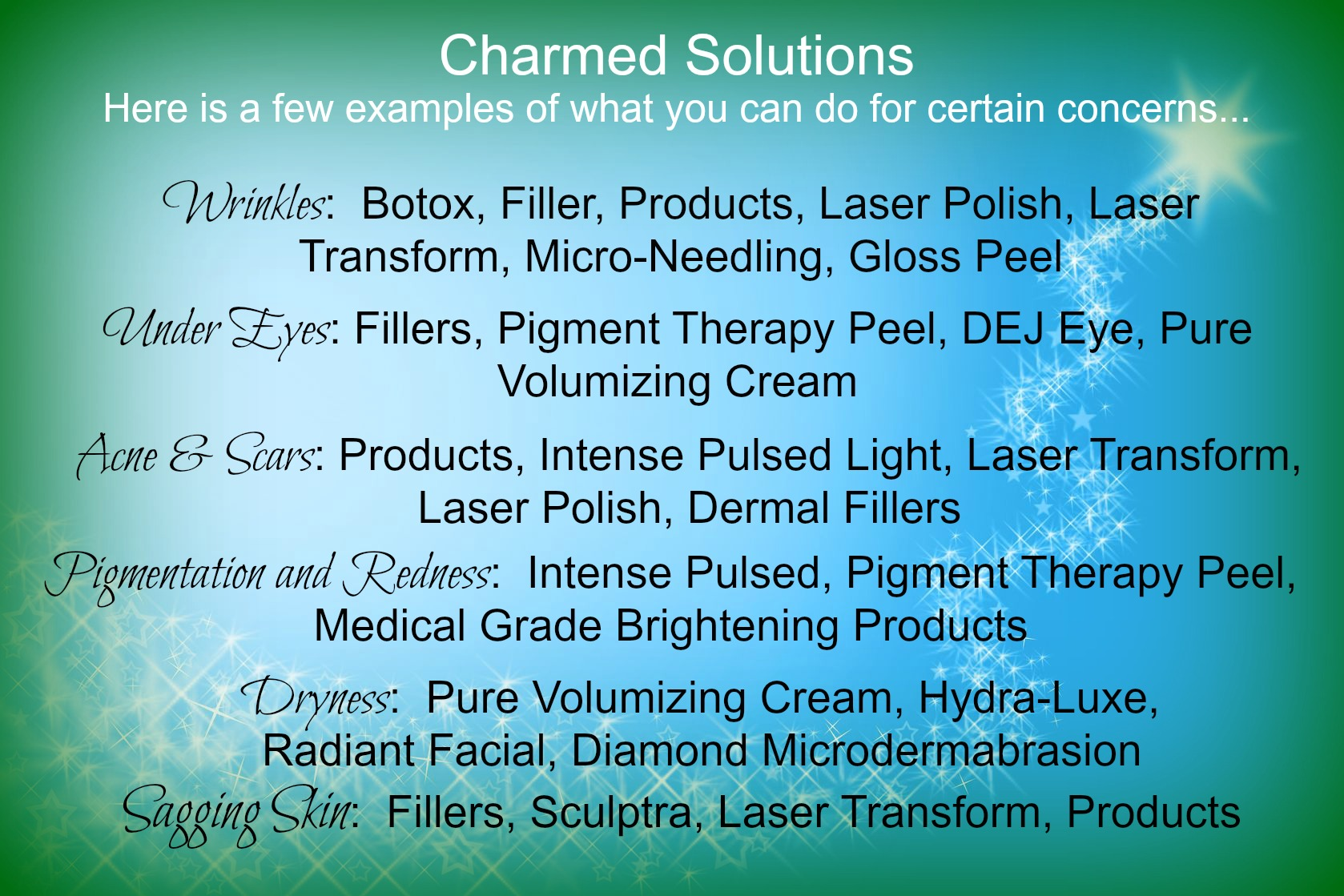 charmed solutions
